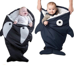 Wholesale Custom Design shark sleeping bag Newborns sleeping bag Winter Strollers Bed Swaddle Blanket Wrap cute Bedding baby sleeping bag