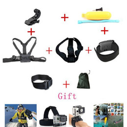 Wholesale 2015 New Multimeter Accessories Set Helmet Harness Chest Belt Head Mount Strap Go Pro Hero3 Hero4 Sj4000 Black Edition