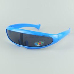 Alien Cool Children Goggles kids Sunglasses Fashion Baby Sun Glasses Plastic Case Have 8 Colors 20pcs