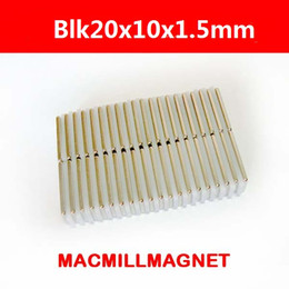 016 New Super Strong Rare Earth Neodyminum Permanent Block Magnets, 10pcs pack,block 20x10x1.5mm, DIY Craft magnet