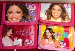 lastest fashion girls favorite movie violetta Nylon canvas Coin Purse wallet Purses for children child gift