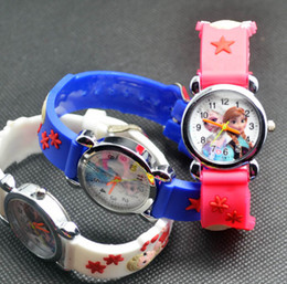 Wholesale Kids Battery Car Wholesalers - NEW Cartoon 3D minion frozen snow white kittycat mouse spider-man car watch kids children silicone cartoon watches christmas gift