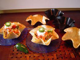 Wholesale set Tortilla quot Taco Salad Shell Bowl Maker Baking Mold Non Stick Pan Pot