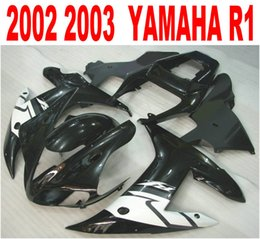 Injection molding new aftermarket for YAMAHA fairings YZF-R1 2002 2003 white black plastic fairing kit YZF R1 02 03 HS44