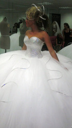 Shining Silver Sequins Sweetheart ball Gown Wedding Dresses No Sleeve White Organza New Bridal Gowns Vestidos De Novia Plus Size