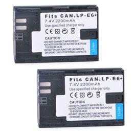 Wholesale 7 V mAh LP E6 LPE6 Battery green environment friendly for Canon D D Mark III D Mark II D D Camera