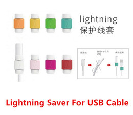 Wholesale For iPhone s c plus ipad lightning saver candy color charging line protection data cable headset protection Earphone protector