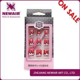 Wholesale Brand new girl series christmas cartoon nail tips short design color printing nail art tips sweet shiny ABS tips