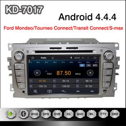 Wholesale Pure Android Din inch Capacitive Touchscreen Car DVD Player For Ford Mondeo Tourneo Connect Transit Connect S max with GPS WiFi G