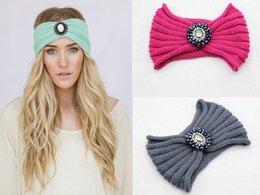 Wholesale Free UPS ship Women Knit Hairband Ear Warmer Headwrap inch inch Bath Shower Spa Makeup New