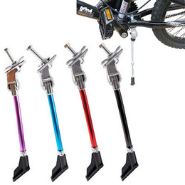 Wholesale Adjustable Aluminum Bicycle Kickstand Folding Cyling Side Stand Parking FOOT KICK Leg Rod Mountain Bike Parts