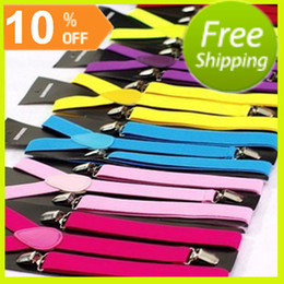 Wholesale 100 Piece Party Game Adult Suspender Solid Plain Color Woman Belts Straps Braces Factory Outlet Customized Suspender Colors