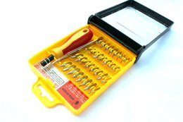wholesale 32 in 1 set Micro Pocket Precision Screwdriver Kit Magnetic Screwdriver cell phone tool repair box 13.5x10.5x3cm Free