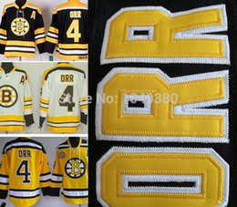 High Quality Cheap Men's Bruins Yellow Winter Cassic Hockey Jerseys #4 Bobby Orr Jersey Home Black Road White Free Shipping