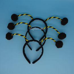 Wholesale Black Ant Bug Ladybird Ladybug Alien Antenna Ball Head Headband One Size