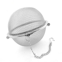 100pc Hot Stainless Steel Tea Pot Infuser Sphere Mesh Tea Strainer Ball free shipping