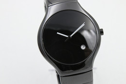 Free shipping full high quaity limited mens watch black ceramic round TICHY high quality date ceramic pear dial mens fashion gents watches