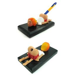 Parodia divertida en venta-juguetes al por mayor-Spoof broma práctica juguetes difíciles de escritorio creativos muebles extravagantes contenedor de pluma grande culo / divertido suena juguetes juguetes para adultos