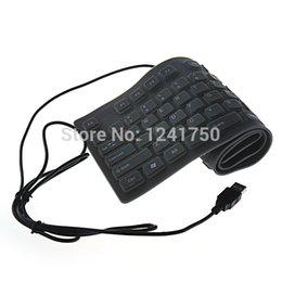 Al por mayor-ultra delgada de silicona suave-109 con conexión de cable USB llave de silicona impermeable plegable Teclado- Gray desde usb con cable al por mayor del teclado de silicona fabricantes