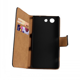 For Sony Xperia Z3 compact Texture Genuine Wallet Leather Case Cover