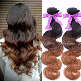 Three Tone T1b 4 30 Ombre Hair Extensions Body Wave Colored by 7A grade Brazilian Virgin Hair Weave 4pcs lot 100% Unprocessed Raw Human Hair