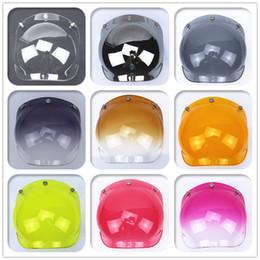 Wholesale bell torc snap open face helmet visor vintage motorcycle helmet bubble shield visor lens glasses suitable for all vintage helmet