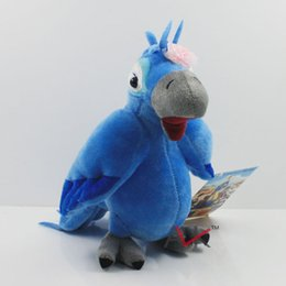 Wholesale Stuffed Parrot Toys - Wholesale-19cm Rio 2 Plush Toy Jewel Female Blu Parrot Fluffy Cuddly Stuffed Animal Doll
