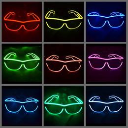 Simple el glasses El Wire Fashion Neon LED Light Glow Sun Glasses Rave Costume Party DJ Bright SunGlasses