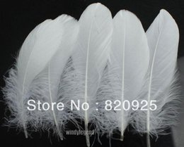 Wholesale 100pcs White Color Goose Feather cm inch Wedding Party DIY Decor Crafts
