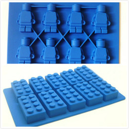 Wholesale New Creative Silicone Mold mini Robot Square Ice Cube Tray Mold Chocolate Fondant cake Kitchen Tool