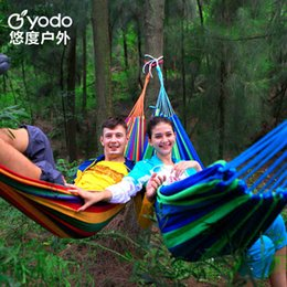 Wholesale Wild outdoor high quality canvas hammock single dormitory thickening hammock can bearing kilograms