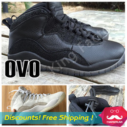 Wholesale JX s retro OVO Sports Shoes RETRO OVO DRAKE WHITE GOLD Athletics Price Trainers Sneakers Mens J10s best Price