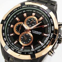 Hommes robe gros de montre en Ligne-Wholesale Curren-montres de mode en acier inoxydable Marque garçons Montres Hommes Montres Sport Fashions, W2 de horloge analogique Quartz Robe Hommes
