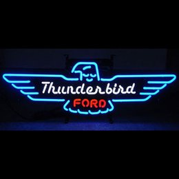 New Ford Thunderbird Real Glass Neon Sign Beer Bar Pub Sign Lights Arts Crafts Gifts 22""