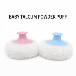 Baby Soft Face Body Powder Puff Sponge Makeup Cosmetic Villus with plastic handle