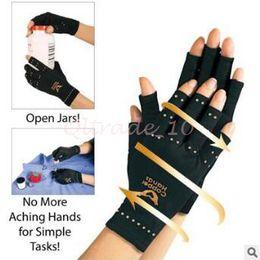 Wholesale 500pcs CCA3122 High Quality Arthritis Gloves Unisex Copper Hands Arthritis Compression Gloves Ache Rheumatoid THERAPY Health Care Gloves