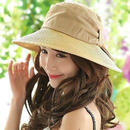 Wholesale-Great Sun Hat UV Sun hats women summer hats Sun linen mix