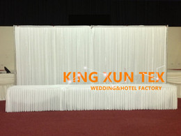 Whole Set 3m*6m Ice Silk Wedding Backdrop Curtain \ Stage Background With Pipe Stand \ Stent Free Shipping