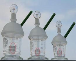 Plates-formes de verre hitman en Ligne-New HitMan Cup Starbuck bong avec percolateur originale Opaque brillant verre vert dab concentré de plate-forme pétrolière bong pipe à eau en verre Hookah