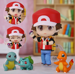 Pocket Center PVC Figures Red Small Figures Toy Nendoroid Squirtle Charmander Bulbasaur Action Figures 10cm Free shipping