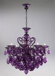 Wholesale Bella Vetro Lights quot Aqua Blown Glass Chianti Chandelier Blue Purple Red Black
