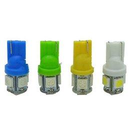 Wholesale Super Led W5w - Super Brightness Colorful 10PCS SMD5050 LED Tail Light T10 W5W 501 DC12V Car Interior Lamp 360 Degree Side Wedge Clearance Bulb