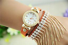 Wholesale Latest Bracelet Watches single diamond watch tassel beautiful woman watch bracelet popular style female students Female watch DHL