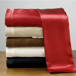Wholesale 1509 Soft skin SATIN SILK bed sheet bedding set bedclothes bed linen home textile sabanas pillowcase ropa de cama