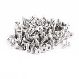 Wholesale 100 HC Steel Countersunk Hex Socket Flat Head Bolts Screws M3x8mm