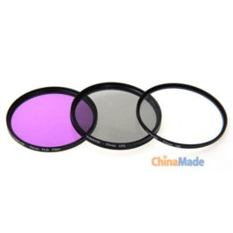 fitTek MASSA 77mm Optical Glass Camera Filter Kit with CPL Filter, FLD Filter, UV Filter +Microfiber Cleaning