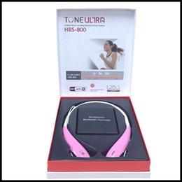 Wholesale LG Tone Ultra Tone Bluetooth Headset HBS Wireless Stereo Earphones sport Headset with hard box pack vs hb hbs