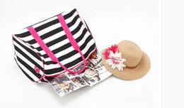 Women Love Pink Handbags VS Brand Totes Fashion Travel Duffle Bags Striped Waterproof Bag Beach Shopping Bag Yoga Shoulder Bags