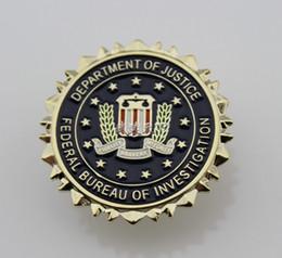 Wholesale FBI Federal Bureau of Investigation Dept of Justice Logo Seal Suit Lapel Pin