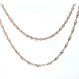 Wholesale Jewelry Sterling Silver Plated Sterling Silver Necklace Chain rose Jinshui wave absolute Sterling Silver Chain